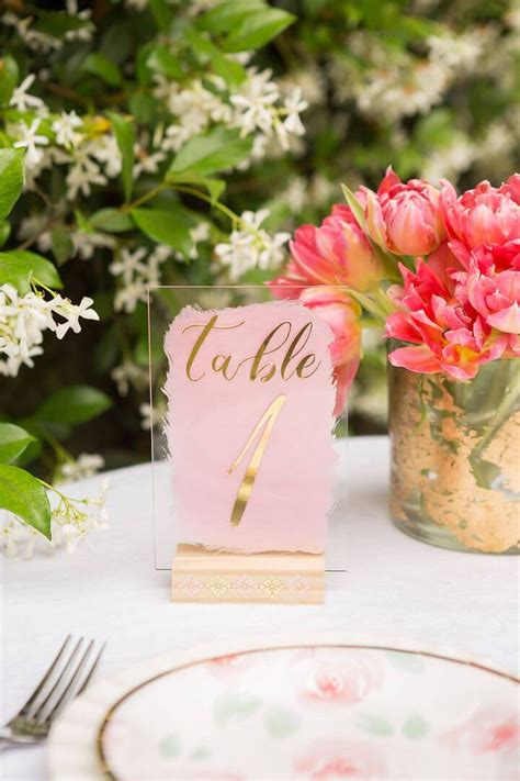 Wedding Table Number Stand Diy