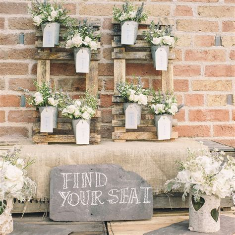 Wedding Table Plan Plant Pots