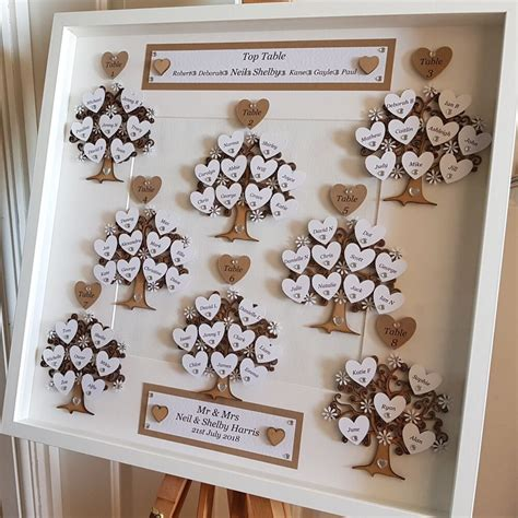 Wedding Table Plans Hearts