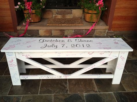 Wedding-Bench-Guest-Book-Plans