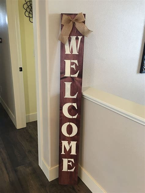 Welcome Wood Sign Diy Ideas