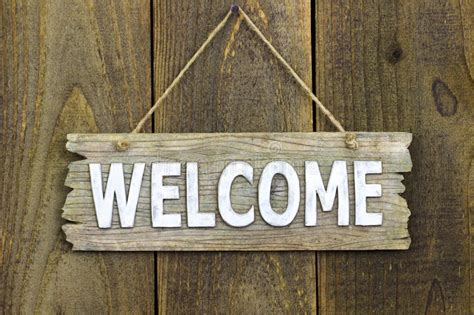 Welcome Wood Sign With Rope Clip Art