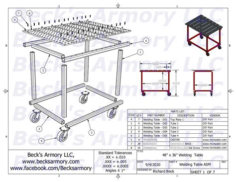 Welding Table Plans Or Ideas Drawing Hard