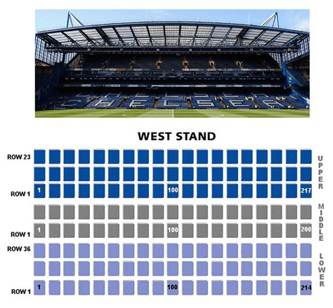 West Stand Chelsea Seating Plan