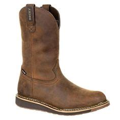 Western Boots Mens Waterproof Rubber Leather Brown RKW0235
