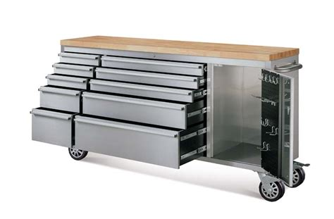 Whalen Stainless Steel Rolling Tool Chest