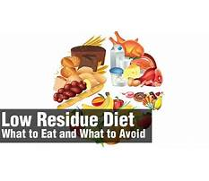 Best What is a soft low residue diet