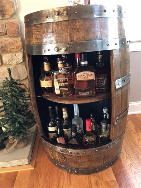 Whiskey-Barrel-Liquor-Cabinet-Plans