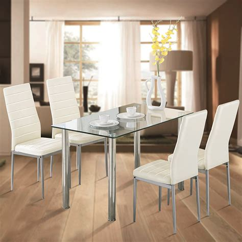 White 4 Chairs Dining Room Walmart