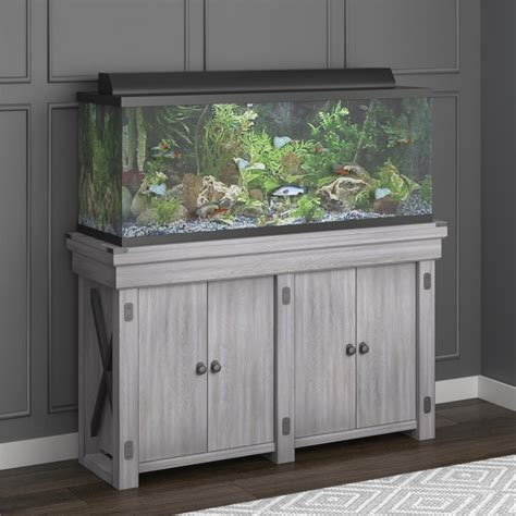 White 55 Gal Fish Tank Stand