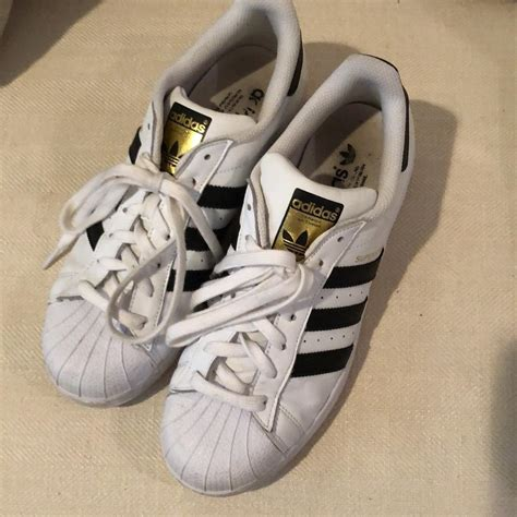 White Adidas Black Stripes Sneakers Not Superstars