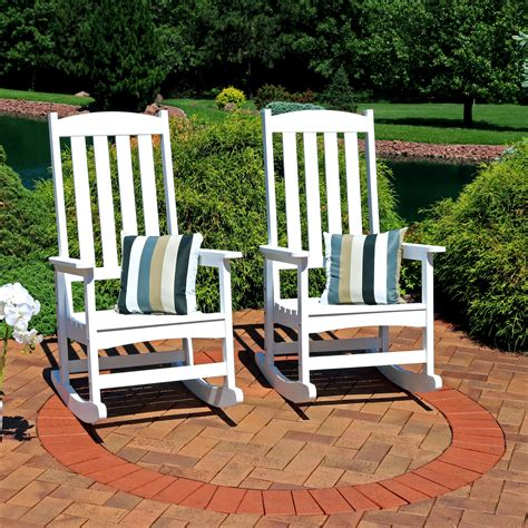 White All Weather Rocking Chairs