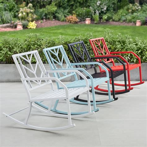 White Aluminum Rocking Chair