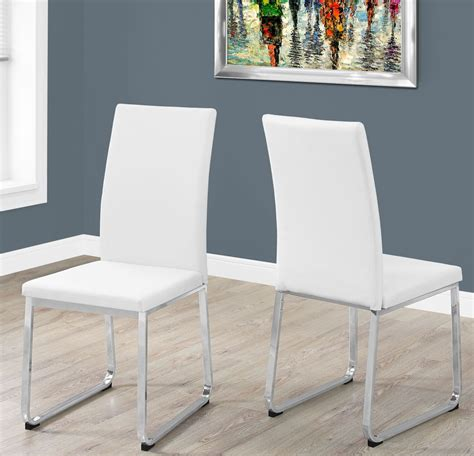 White And Chrome Dining Room Chairs