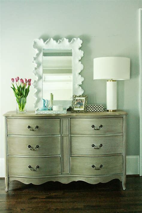White And Gold Dresser Diy