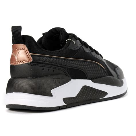 White And Gold Puma Sneakers Special Order