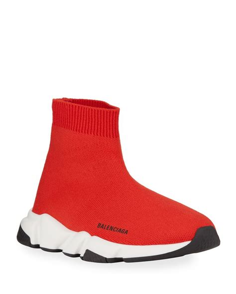 White And Red Balenciaga Sneakers