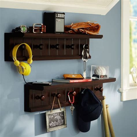 White Beadboard Peg Shelf Board