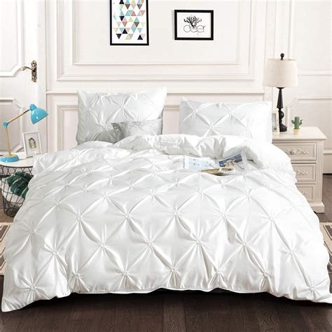 White Bedding Pintuck