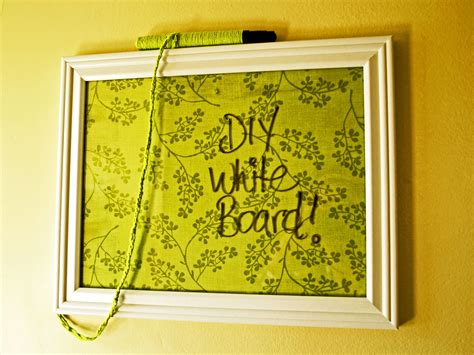 White Board Diy With Picture Frames Glass