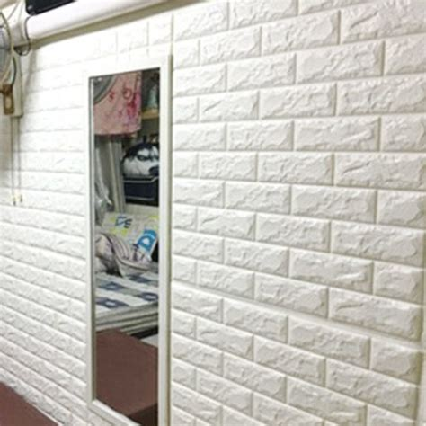 White Brick Wall Decal