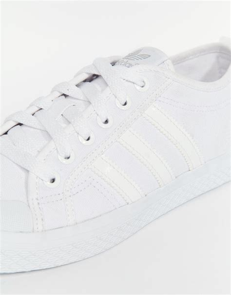 White Canvas Adidas Sneakers