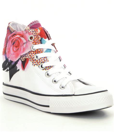 White Converse Sneaker Wedges