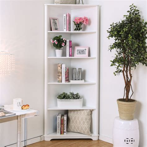 White Corner Shelves