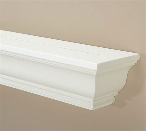 White Crown Molding Picture Ledge