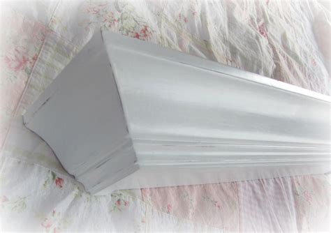 White Crown Molding Wall Shelves