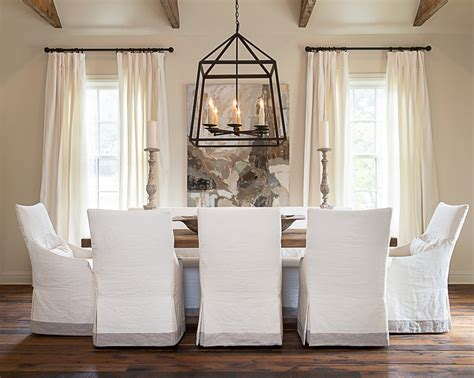 White Dining Room Chair Slip Covers