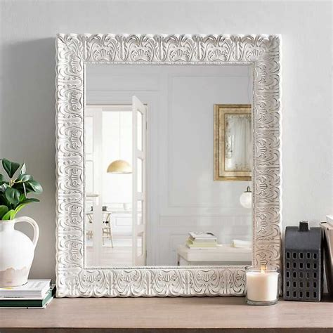 White Distressed Framed Mirrors