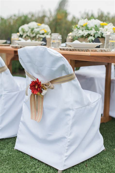 White Folding Chair Cover Wedding Diy