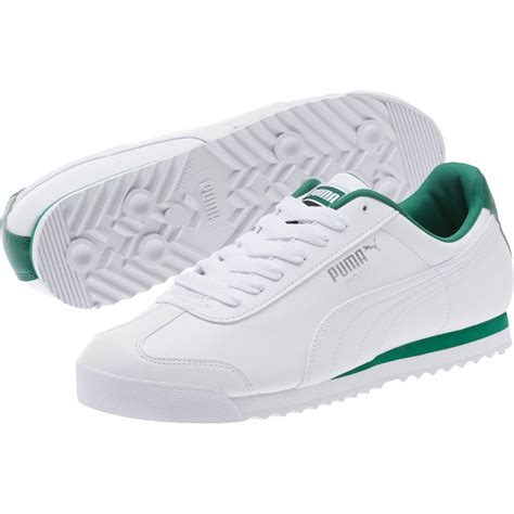 White Green Puma Sneakers