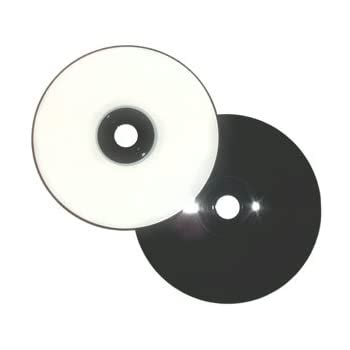 White Inkjet Printable/BLACK 80-Minute CD-R's 100-Pak in Shrinkwrap (2 x 50-Pak)