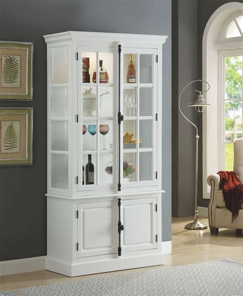 White Kitchen Curio Cabinets
