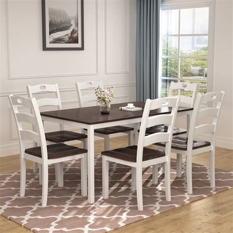 White Kitchen Table Set With 6 Chairs