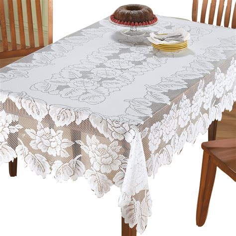 White Patterned Tablecloth