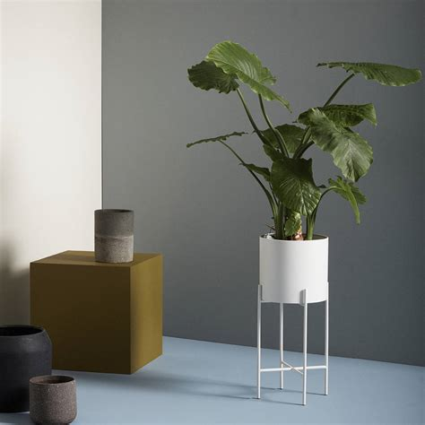 White Planter Stands