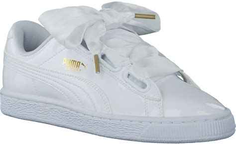 White Puma Basket Heart Sneakers