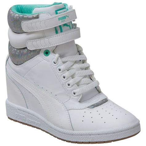 White Puma Sneaker Wedges