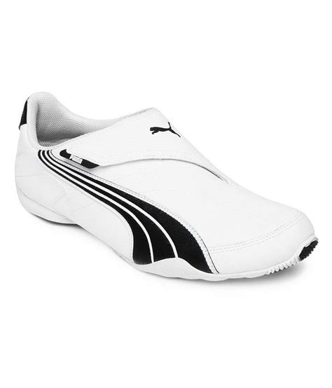 White Puma Sneakers Velcro Men