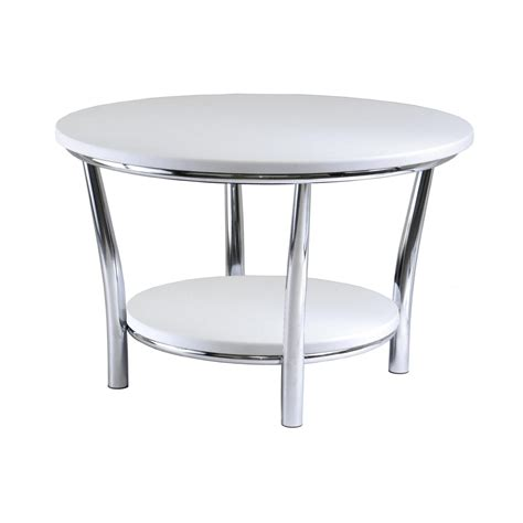 White Side Table With Metal Legs
