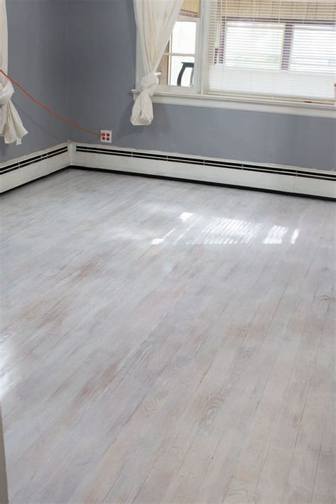 White Washed Wood Floors Diy Halloween