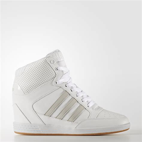 White Wedge Sneakers Adidas