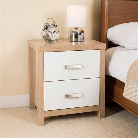 White Wood Bedside Cabinets