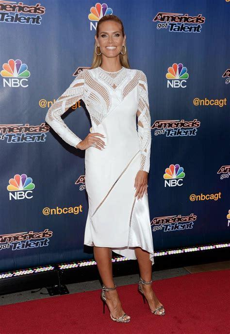 White Dress Heidi Klum America Got Talent