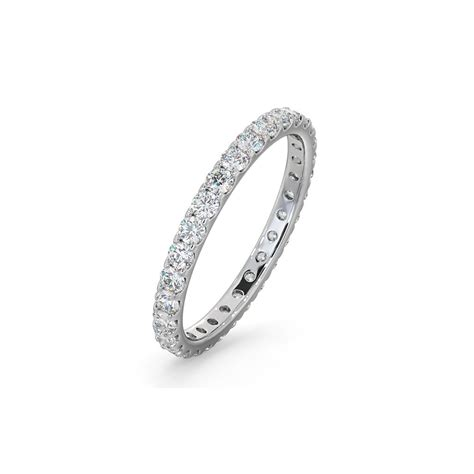 White Gold Claw Set Diamond Eternity Ring A Image of Love