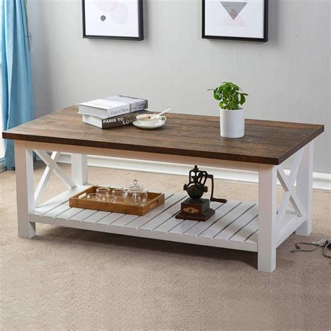 White-And-Brown-Farmhouse-Coffee-Table