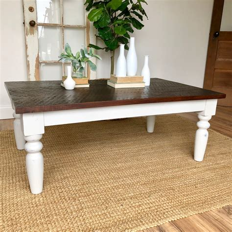 White-And-Wood-Farmhouse-Coffee-Table